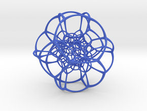 Inverted Truncated Octahedral Lattice in Blue Strong & Flexible Polished