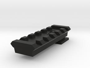 Flash Hot Shoe Picatinny Rail (6 Slots) in Black Natural Versatile Plastic