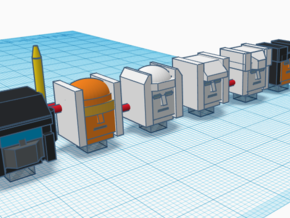 Heads for Aerialbot Kreons (Set 2 of 2) in Smooth Fine Detail Plastic