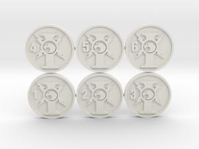 Custodian Objective Markers in White Natural Versatile Plastic