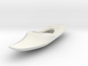 O Scale Kayak in White Natural Versatile Plastic