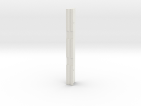 HO Scale Caltrans K-Rail Jersey Barrier in White Natural Versatile Plastic