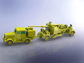 8,8cm Flak 41 moving 1/200 in Smooth Fine Detail Plastic