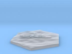 HMS Gloxinia corvette hex counter in Smooth Fine Detail Plastic
