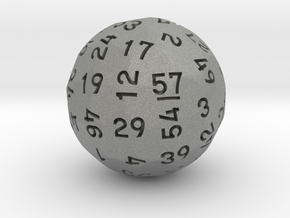 d57 Sphere Dice in Gray PA12