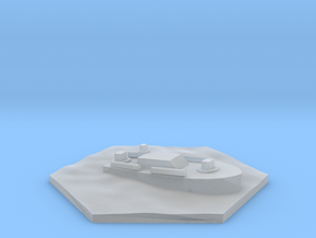 PT boat WW2 warship hex counter in Smooth Fine Detail Plastic
