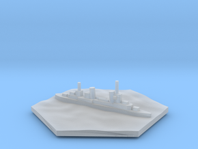 Cruiser WW2 warship hex counter in Smooth Fine Detail Plastic