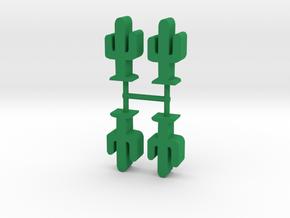Cactus meeple, 4-set in Green Processed Versatile Plastic