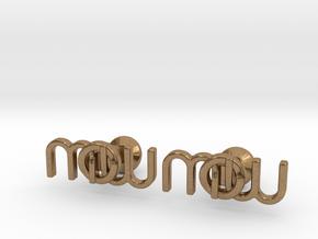 Monogram Cufflinks MWO in Natural Brass
