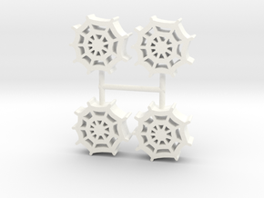 Spiderweb meeple, 4-set in White Processed Versatile Plastic