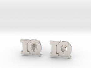 Monogram Cufflinks IQ in Platinum
