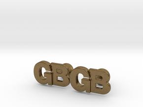 Monogram Cufflinks GB in Natural Bronze