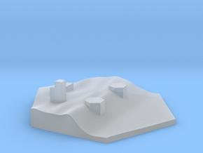 Shoreline battery terrain hex tile counter in Smooth Fine Detail Plastic