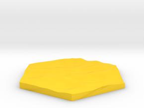 Desert sand terrain hex tile counter in Yellow Processed Versatile Plastic