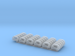 Chock - 12 inch open end - 1/96 - 30 pieces in Smoothest Fine Detail Plastic