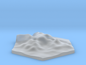 Tall rocks terrain hex tile counter in Smooth Fine Detail Plastic