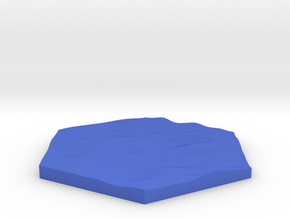 Sea ripples terrain hex tile counter in Blue Processed Versatile Plastic