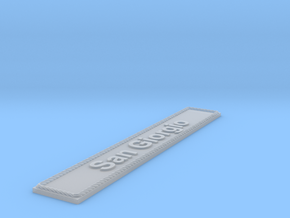 Nameplate San Giorgio in Smoothest Fine Detail Plastic
