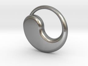 Tao Pendant in Natural Silver
