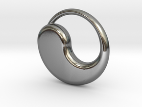 Tao Pendant in Polished Silver
