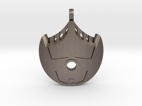 Water Bohrok Pendent in Polished Bronzed-Silver Steel