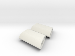 MO2 Wing mount for RC car, 8 deg angle in White Natural Versatile Plastic