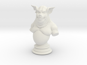 Mini Boar Creature Bust in White Natural Versatile Plastic