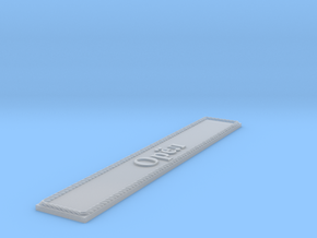 Nameplate Орёл (Oryol in Cyrillic) in Smoothest Fine Detail Plastic