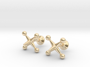 Jacks Cufflinks in 14K Yellow Gold