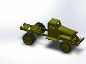 WW2 CHEVY 1.5T 5TH WHEEL in Smooth Fine Detail Plastic