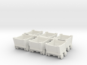 N Scale Ore Cars in White Natural Versatile Plastic