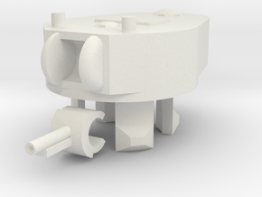 1/100 KT-3A Turret in White Natural Versatile Plastic