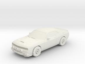 Wasteland Wars Modern Muscle Car in White Natural Versatile Plastic