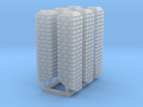 """HO 18"""" Square Brick Chimneys in Smooth Fine Detail Plastic"""