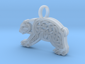 small knotwork Bear in Smoothest Fine Detail Plastic