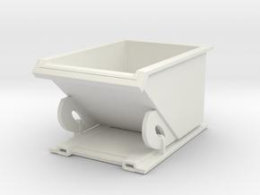 Forklift Dumpster 1/48 in White Natural Versatile Plastic