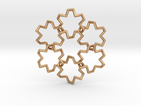 "crown-18-6 ""Snowflake"" in Natural Bronze (Interlocking Parts)"