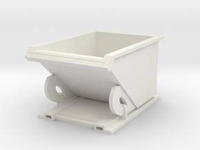 Forklift Dumpster 1/12 in White Natural Versatile Plastic