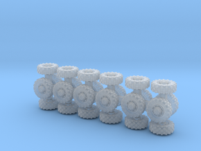 8mm diameter wheels in Smooth Fine Detail Plastic