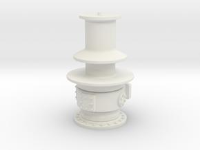 Capstan winch - 1:24 in White Natural Versatile Plastic