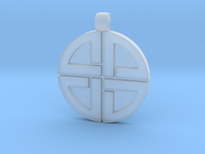 Shield Knot pendant in Smoothest Fine Detail Plastic