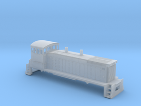 N Scale SW1500 Shell (1:160) in Smooth Fine Detail Plastic