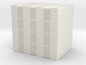 Concrete Bricks Pile 1/35 in White Natural Versatile Plastic