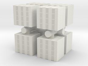 Concrete Bricks Pile (x8) 1/120 in White Natural Versatile Plastic