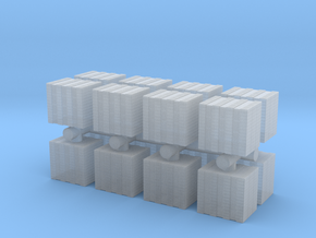 Concrete Bricks Pile (x16) 1/160 in Smooth Fine Detail Plastic
