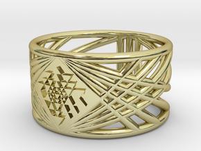 Sri Yantra Ring in 18k Gold Plated Brass: 5.75 / 50.875