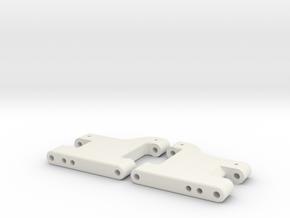 MO28-5 - Stock length(37.5mm) Stiff suspension arm in White Natural Versatile Plastic