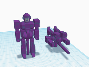 Railgunner RoGunner in Purple Processed Versatile Plastic: Medium