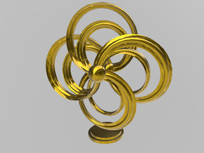 Turbine Sculpture in Polished Gold Steel