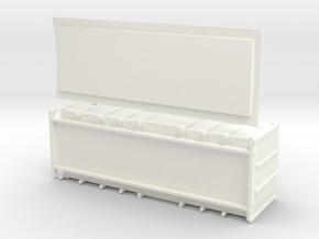 F2a - Swedish train heating wagon in White Processed Versatile Plastic
